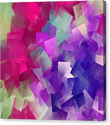 Color Block Canvas Print - Color Block - Purples by Marianna Mills