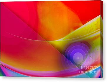 Color Burst Rainbow Abstract Canvas Print by Andee Design