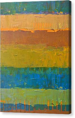 Canvas Print featuring the painting Color Collage Three by Michelle Calkins