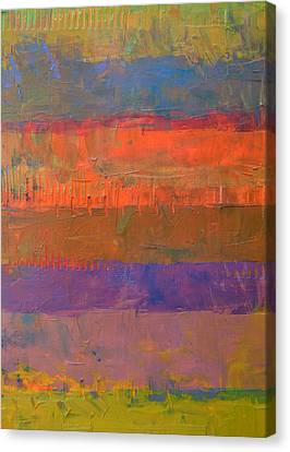Canvas Print featuring the painting Color Collage Two by Michelle Calkins