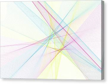 Vector Canvas Print - Color Computer Graphic Line Pattern by Frank Ramspott