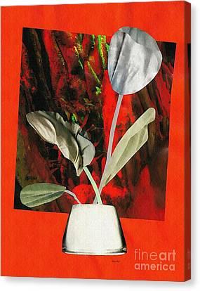 Color Drained Bouquet Canvas Print