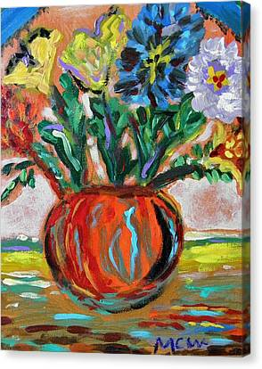Canvas Print featuring the painting Color Everywhere by Mary Carol Williams