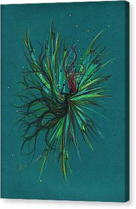 Canvas Print featuring the drawing Color Fall by Dawn Fairies