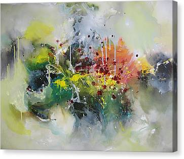 Color Fever Large 16 Canvas Print by Seon-Jeong Kim