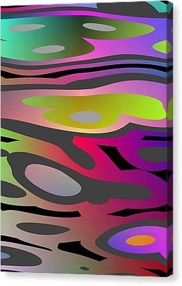 Canvas Print featuring the digital art Color Fun 1 by Jeff Iverson