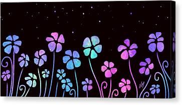 Color Game Series Blue Canvas Print by Veronica Minozzi