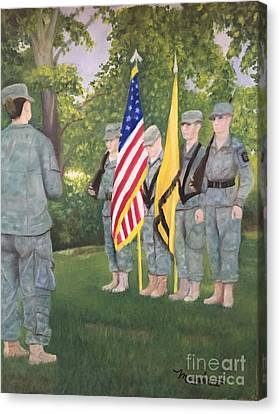 Color Guard Canvas Print by Sheila Mashaw