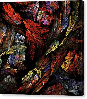 Modern Digital Art Canvas Print - Color Harmony by Oni H