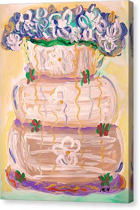 Color In A Wedding Cake Canvas Print by Mary Carol Williams