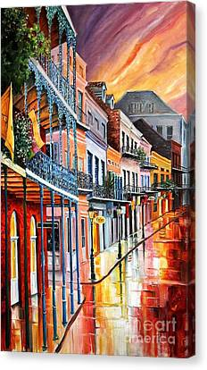 Color In The Quarter Canvas Print by Diane Millsap