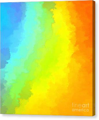 Color Me Happy Canvas Print by Krissy Katsimbras