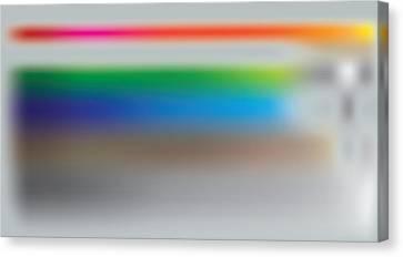 Color Mist Stack Canvas Print