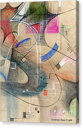 Color Pencil Abstract On Pastel Paper Canvas Print