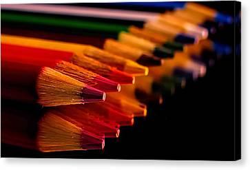 Color Pencils Canvas Print by Elijah Knight