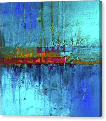 Canvas Print featuring the painting Color Pond by Nancy Merkle
