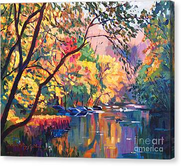 Color Reflections Plein Aire Canvas Print by David Lloyd Glover