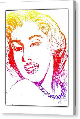 Color Rendition Of Marilyn Monroe Canvas Print