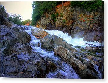 Canvas Print featuring the photograph Color Steps At Livermore Falls by Wayne King