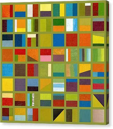 Color Study Collage 64 Canvas Print by Michelle Calkins