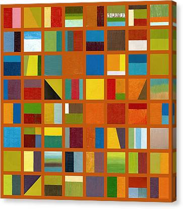 Color Study Collage 66 Canvas Print by Michelle Calkins