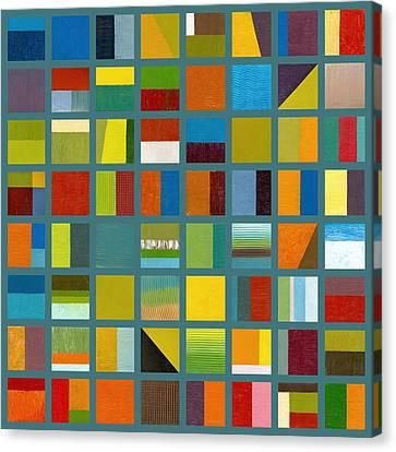 Color Study Collage 67 Canvas Print by Michelle Calkins