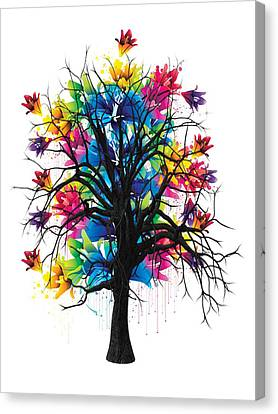Color Tree Collection Canvas Print