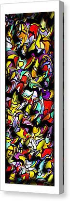 Color Unfolds Canvas Print by Joan  Minchak