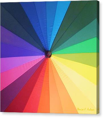 Color Wheel Canvas Print by Denise Fulmer