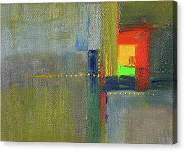 Canvas Print featuring the painting Color Window Abstract by Nancy Merkle