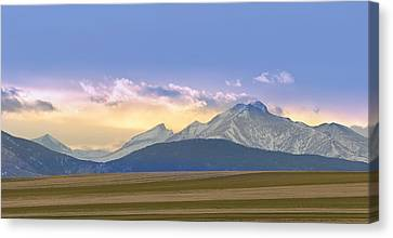 Colorado Agriculture Plains Sunset Diptych Pt 1 Canvas Print by James BO  Insogna