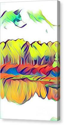 Colorado Aspens - Minimalism Abstract Canvas Print
