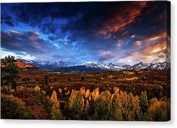 Colorado Autumn Panorama Canvas Print by Andrew Soundarajan