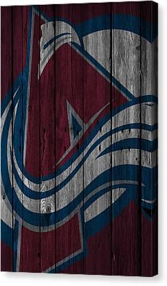 Colorado Avalanche Wood Fence Canvas Print