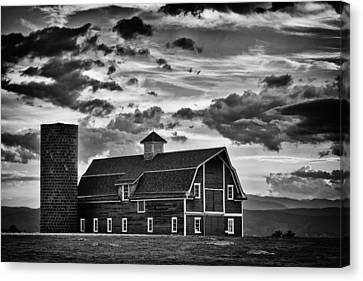 Colorado Barn Monochrome Canvas Print by Darren White