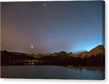 Canvas Print featuring the photograph Colorado Brainard Lake Galaxy Night by James BO Insogna