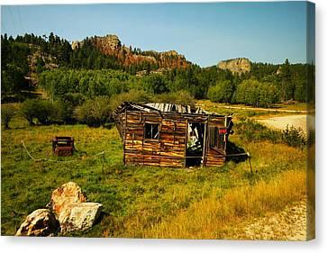 Mountain Cabin Canvas Print - Colorado Cabin by Jeff Swan