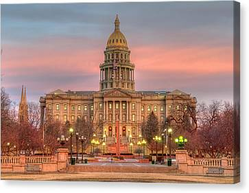 Canvas Print featuring the photograph Colorado Capital by Gary Lengyel