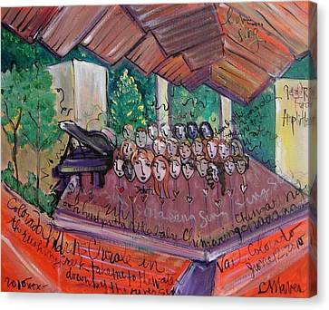 Colorado Childrens Chorale Canvas Print by Laurie Maves ART