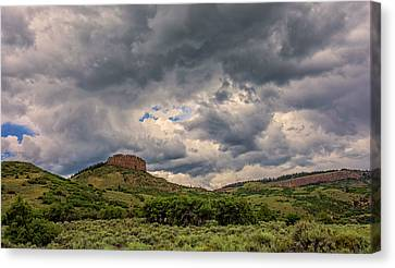 Summer Thunderstorm Canvas Print - Colorado Cloudscape by Loree Johnson