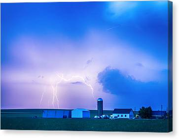 Colorado Country Lightning Storm Canvas Print by James BO  Insogna