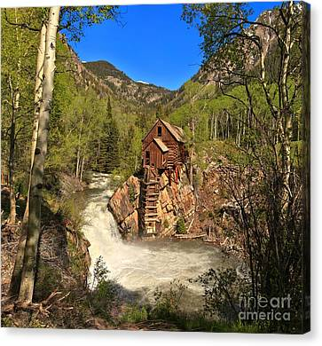 Crystal Colorado Canvas Print - Colorado Crystal Mill by Adam Jewell