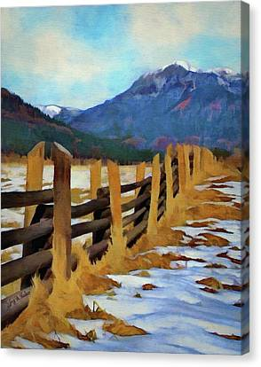 Colorado Fence Line  Canvas Print by Jeff Kolker