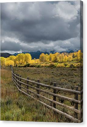 Colorado Plateau Canvas Print - Colorado Fenceline by Joseph Smith