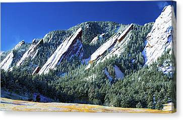 All Fivecolorado Flatirons Canvas Print by Marilyn Hunt