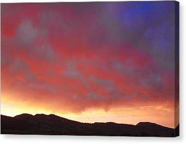 Colorado Front Range Rocky Mountains Foothills Sunset Canvas Print by James BO  Insogna