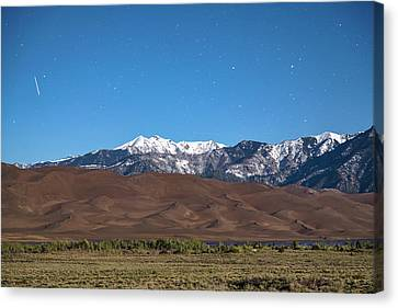 Colorado Great Sand Dunes With Falling Star Canvas Print by James BO Insogna