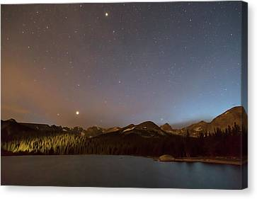 Canvas Print featuring the photograph Colorado Indian Peaks Stellar Night by James BO Insogna