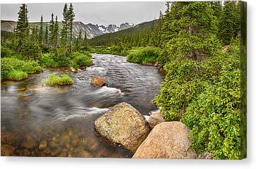 Colorado Indian Peaks Wilderness Creek Panorama Canvas Print by James BO  Insogna
