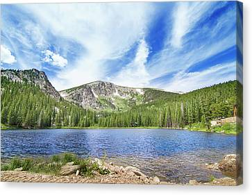 Beauty Mark Canvas Print - Colorado Mountain Lake by Mark Andrew Thomas